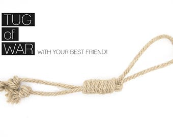 Rope Dog Toy for Tug of War & Fetch