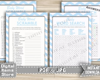 Items similar to 2-in-1 games Baby Shower Word Search and