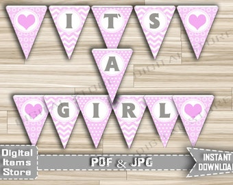 Its a Girl Banner, Baby Shower Banner, Banner Girl Shower, Baby Shower Banner Girl in pink, Decorations Baby Shower , Baby Shower Girl - cp1