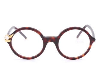 Gianfranco Ferrè GFF 37 vintage round eyeglasses made in Italy 80's