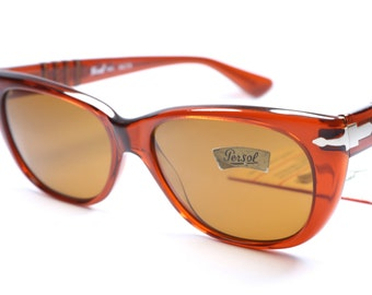 981ddec34aa10 Persol Ratti 840 vintage cat eye sunglasses with amber frame and brown  lenses