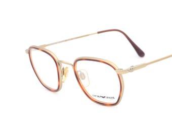 67958493a7c72b Emporio Armani 011 vintages lunettes carrés fabriqués en Italie 90