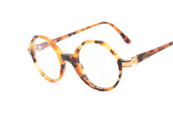 d2e35a50523d Fendi FV223 vintage round eyeglasses with tortoise frames and