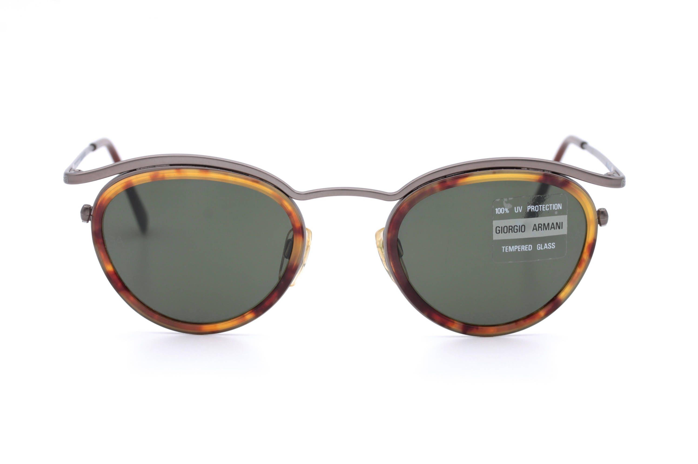 Giorgio Armani 632 Vintage Runde Sonnenbrille mit Mineral | Etsy