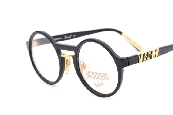 c97d2559735 Moschino M22 by Persol vintage unusual round eyeglasses made