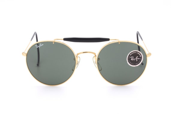 445f8be3f3 Vintage B L Ray Ban U.S.A. outdoorsman round sunglasses
