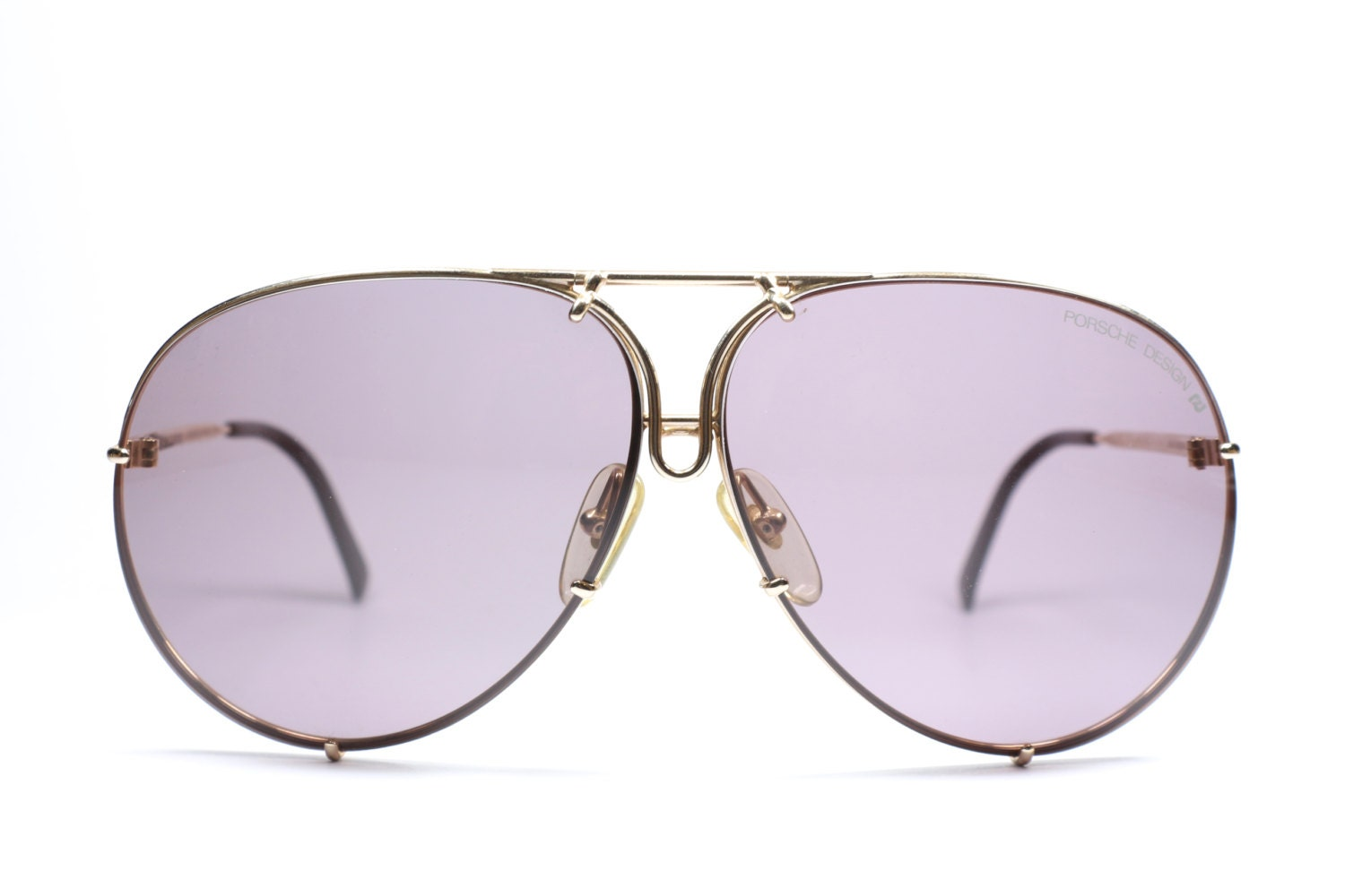 2696b2a1a0fd2 Porsche Design 5623 46 small   aviator sunglasses with two set