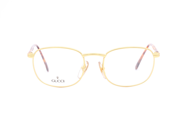 Gucci GG 1320 Platz goldene Brille hergestellt in Italien in | Etsy