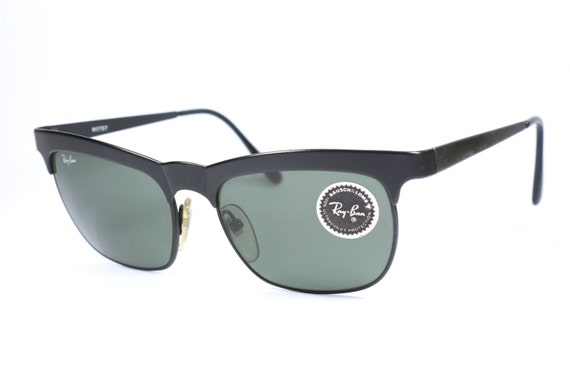 9f79325b0f8 reduced vintage ray ban bl w0757 square sunglasses with black frame and  gray lenses 80s ray