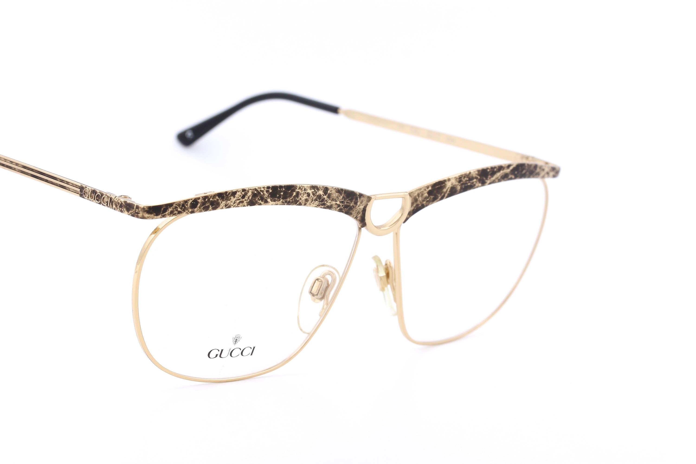 Gucci GG 2217 Brille mit goldenen Rahmen hergestellt in | Etsy