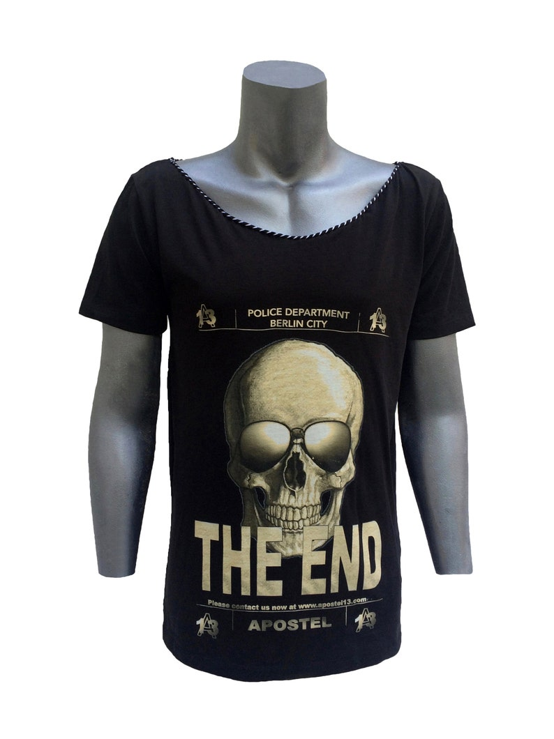 Men's Deep-Neck T-Shirt Apostel13  Skull The End  Shirt image 0