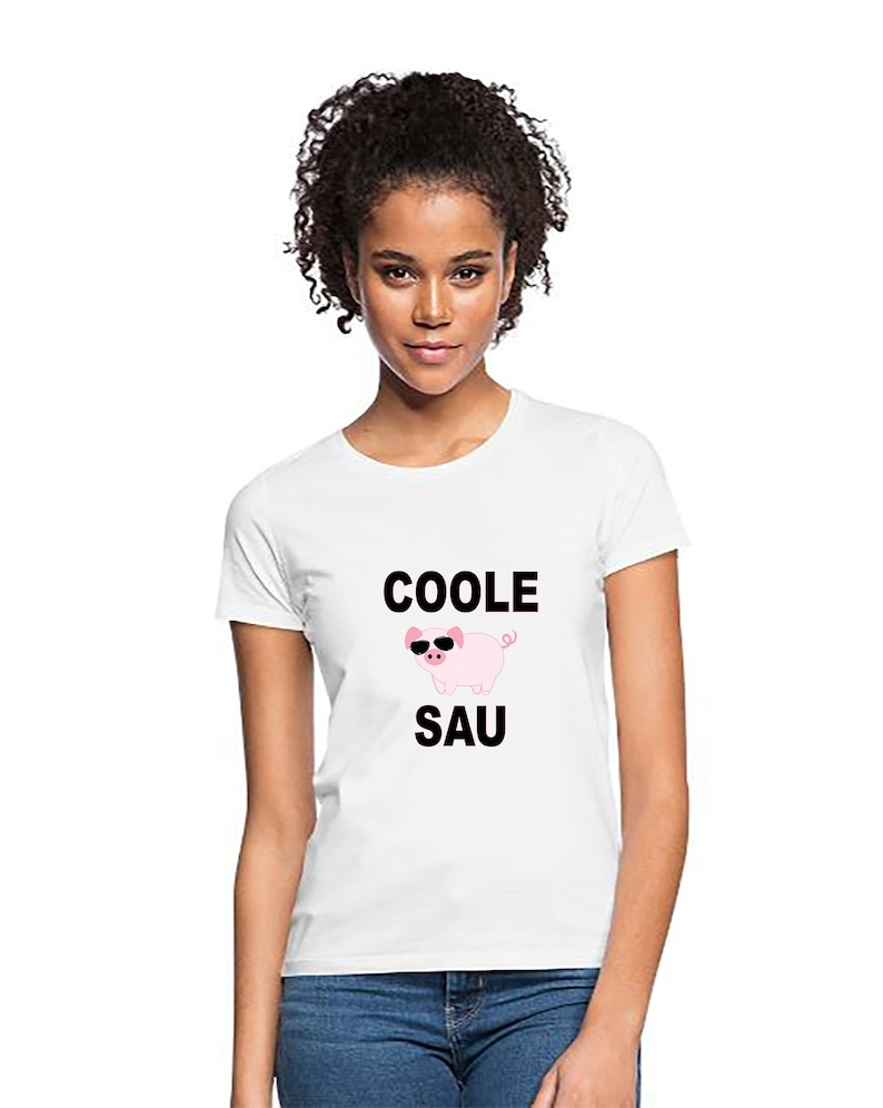 T-shirt piggy cool sow woman pig shirt cool sow round neck image 0