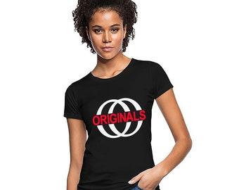 Women T-Shirt *Originals* Classic Cotton Shirt Black White Pink Gift Size: S-2XL
