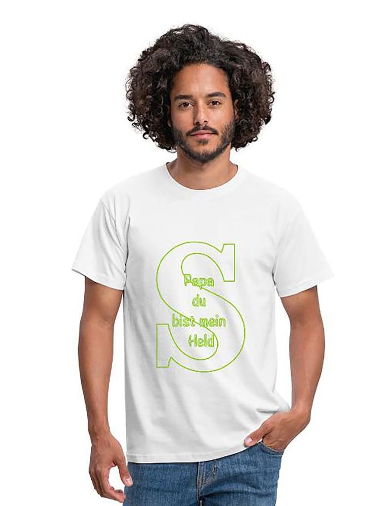Papa Shirt Men's T-Shirt Papa du bist mein Held Classic image 0