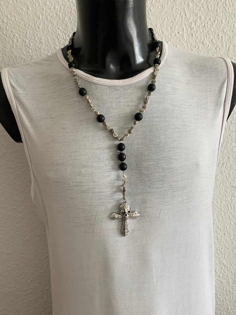 Elegant Solid Stainless Steel Necklace with Pendant Cross with image 0