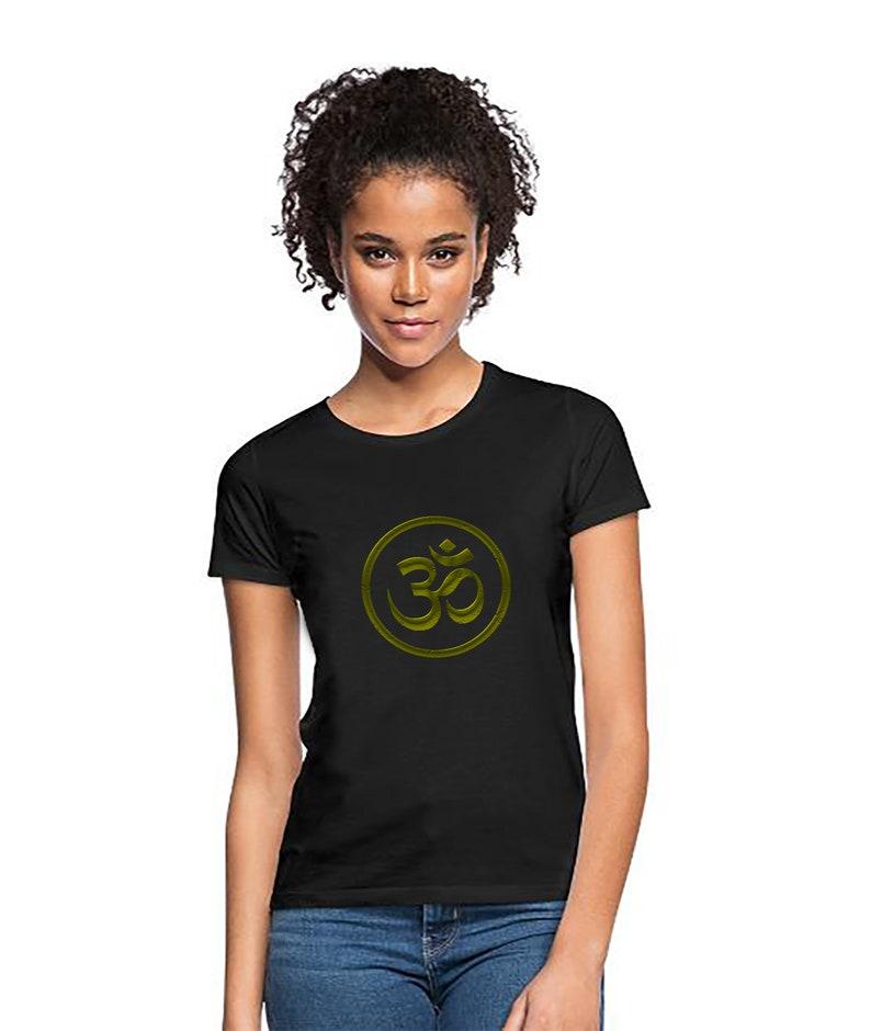 Yoga Om sign Women T-Shirt Sports Fitness Classic T-shirt Yoga image 0