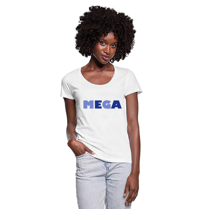 Women T-shirt  MEGA  women shirt  MEGA  round neck gifts image 0