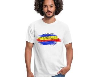 Mens White T-Shirt *VAN GOGH* Round Neck Classic Fit Black Shirt Size: S-5XL