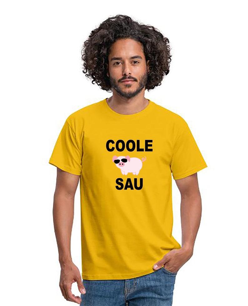 Men Shirt Cool Sow Birthday Present Piggy T-Shirt Gift Cool image 0