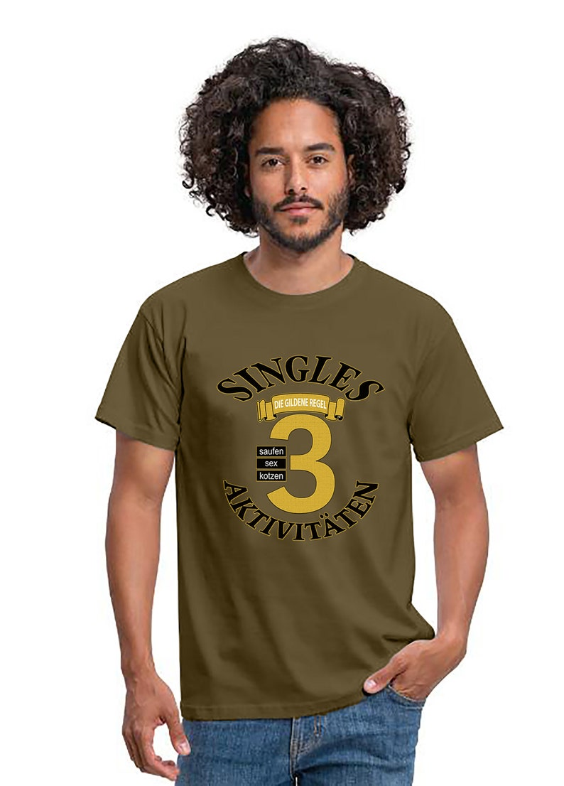 Men T-shirt Singles Activities The Golden Rule Gift Shirt image 0