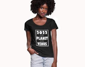 2022 New Year Black T-Shirt *2022 Planet Venus* My Lucky Year T-Shirt Christmas Birthday Gift