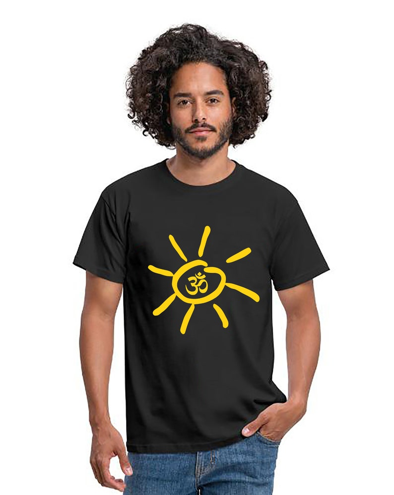 Yoga Om Sun Men T-Shirt Sport Fitness Classic T-shirtYoga Om image 0