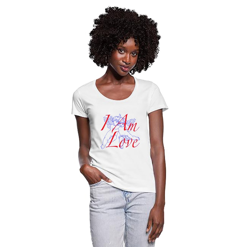 Women T-shirt I Am Love Valentine's day gift I Am Love image 0