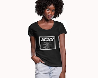 2022 Your Past Your Future Black or White T-Shirt / My Happy Year T-Shirt / Birthday Gift / Christmas / New Year