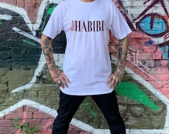 Mens Classic Extreme Long Urban T-Shirt *Mister Habibi* Short Sleeve T-Shirt Black, White, Size: S-2XL