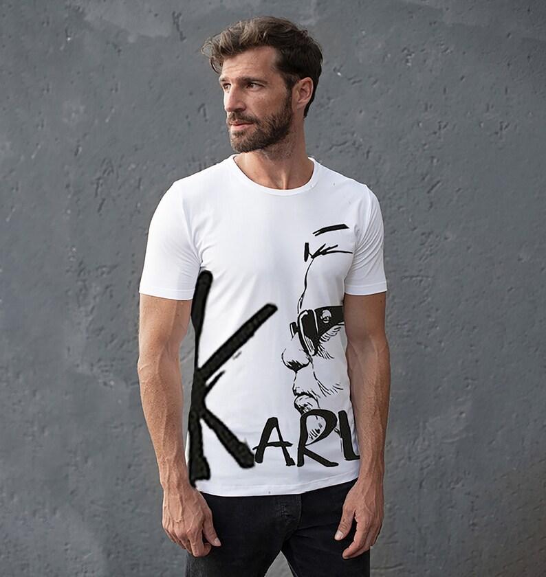 Men BIO Classic Karl T-Shirt Karl Lagerfeld Portrait Shirt image 0