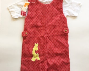 4a3fc61e7f5d Vintage 70s 1970s deadstock with tags unisex shortalls romper set for boys  or girls size 3x