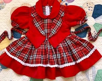 da70f15db49 Vintage toddler dress   western   country   60s dress   full circle skirt    twirl   twirly   square dance  plaid dress   cowboy   rodeo