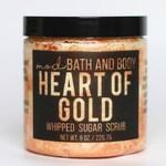 Sugar Scrub Heart of Gold | Gold Glitter Soap Sugar Scrub | Sugar Scrubs | Whipped Sugar Scrub | Exfoliating Sugar Scrub