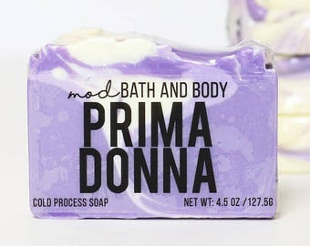 Soap Prima Donna | Spring Soap | Cold Process Soap | Bar Soap | Bath and beauty | Handmade Soap