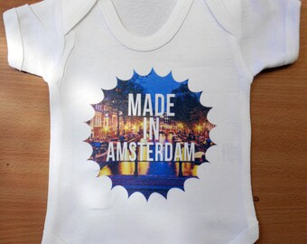 Baby Made in AMSTERDAM Vest / Body Suit / Play Suit - AMSTERDAM Baby