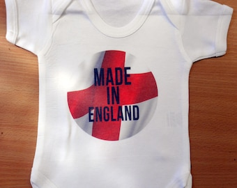 Baby Made in ENGLAND Vest / Body Suit / Play Suit - ENGLAND Baby