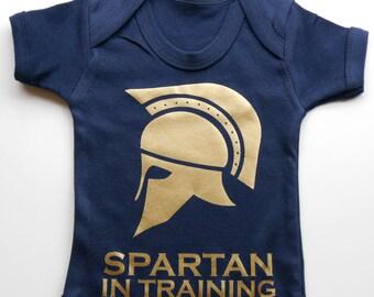 Baby Spartan Vest - Baby Spartan In Training Vest / Body Suit / Play Suit