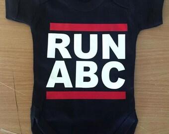RUN ABC Baby Vest / Body Suit / Play Suit