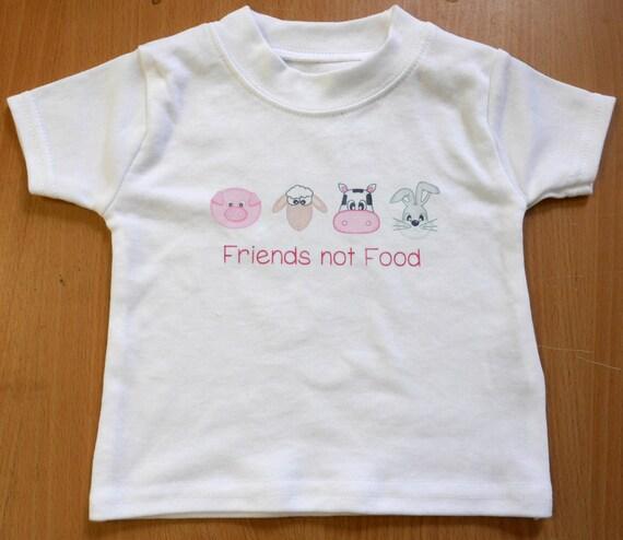 freund nicht essen baby kleinkind t shirt vegan etsy. Black Bedroom Furniture Sets. Home Design Ideas