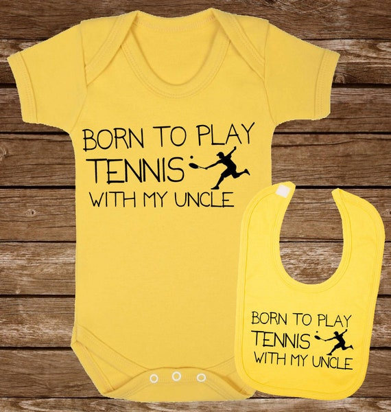 Cricket Gift Set Born to play Cricket Baby Vest and Bib Gift Set