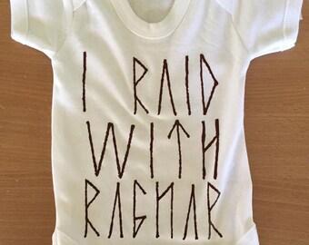 I Raid With Ragnar (Vikings) Vest / Body Suit / Play Suit