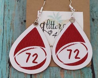 Perler Biggie bead sports teams stud earrings FREE SHIPPING Florida Gators Seminoles