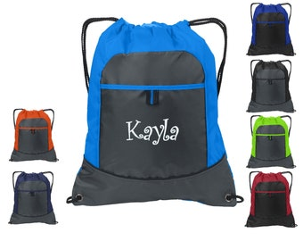 Monogrammed Kids Backpack Embroidered Personalized with Initials of Your Choice Perfect Kids School Gift