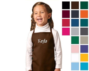 Personalized Kids Apron, Cooking Kitchen Gift, School Gift, Student Gift, Monogrammed, Cooking Party, Art Party, Low Price Apron