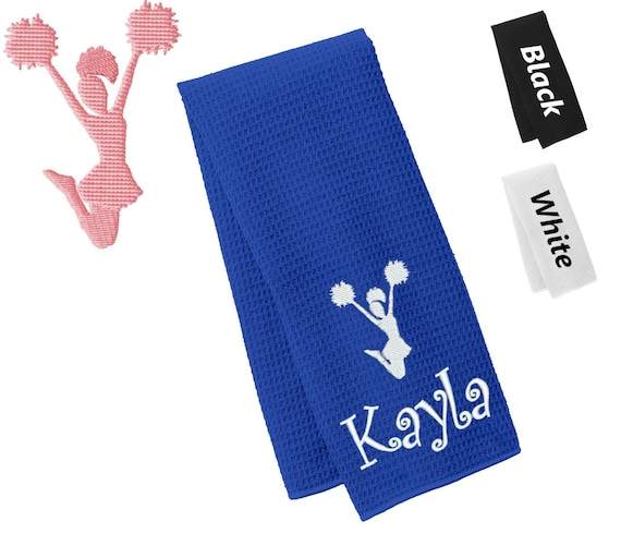 Personalized and custom Sports Sweat towel Cheerleading CHEER towel Hand Towel Kids towel Sports towel Gym towel