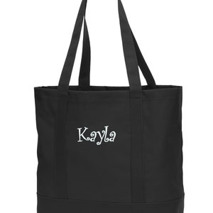 Personalized Tote Bag Embroidered Dolphin Monogrammed with Name of Your Choice Perfect Gift