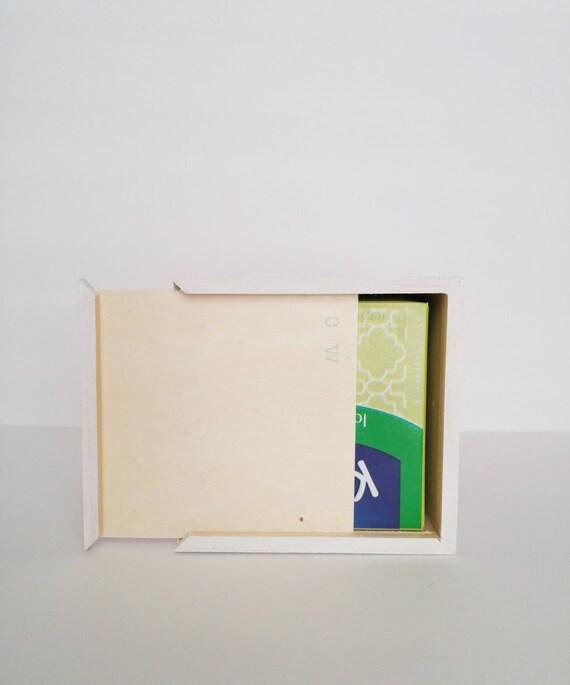 Cabilock Cubierta de Tejido de Madera Contenedor de Tejido Rectangular Caja de Papel de Seda para Sala de Estar Ba/ño Oficina en el hogar