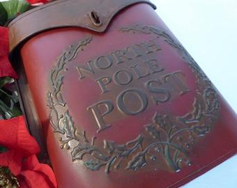 Vintage Rustic Folk Art Mailbox