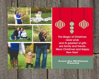 Picture Family Christmas Card, Christmas Card, Holiday Card