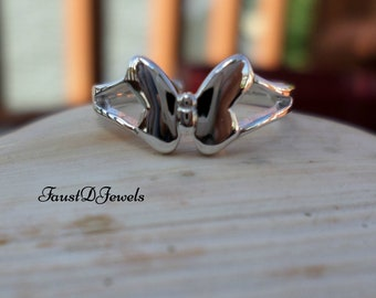 FREE SHIPPING Sterling Silver Plain Butterfly Toe Ring